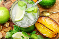 Glass of citrus juice Royalty Free Stock Image