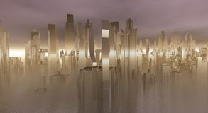 Glass City Royalty Free Stock Photography