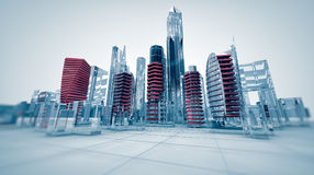 Glass city Royalty Free Stock Image