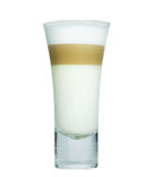 Glass with classic latte coffee Stock Photos