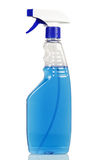 Glass cleaner with blue fluid Stock Image