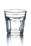 Glass of clear alcohol Royalty Free Stock Images