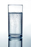 Glass of clear mineral water Royalty Free Stock Photos