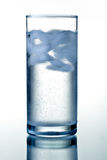 Glass of clear mineral water Royalty Free Stock Images