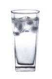 Glass with clear water and ice cubes. Stock Photography