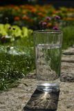 Glass of clear water Stock Images