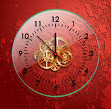 Glass clockwork red Royalty Free Stock Images