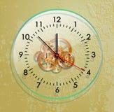 Glass clockwork Stock Images