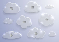 Glass cloud collection Royalty Free Stock Photo