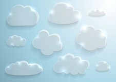 Glass clouds collection Royalty Free Stock Photo