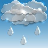Glass clouds with rain. Spring background. Royalty Free Stock Images