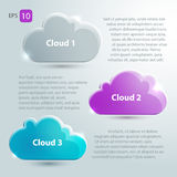 Glass clouds set with place for text.  Royalty Free Stock Photo