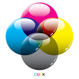 Glass CMYK color modes Royalty Free Stock Image
