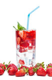 Glass of cocktail and berries closeup Stock Image