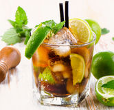 Glass of cocktail with rum Royalty Free Stock Images