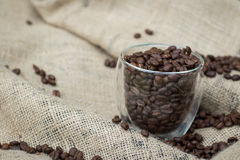 Glass of Coffee Beans Royalty Free Stock Photo