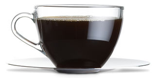 Glass coffee cup Royalty Free Stock Photo