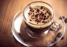 Glass Coffee Cup Crema Stock Photography