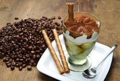 Coffee ice cream Stock Image