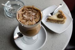 Glass of coffee moccoccino Royalty Free Stock Photos