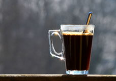 A glass of coffee Royalty Free Stock Photo