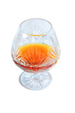 Glass of cognac Royalty Free Stock Images