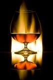 Glass with cognac Stock Photos