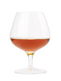 The glass of cognac Stock Photos