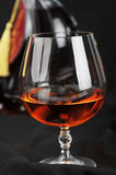 Glass of cognac Royalty Free Stock Image