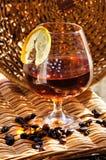 Glass of cognac Stock Photo