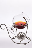 A glass of cognac Stock Image