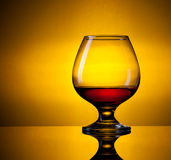 Glass with cognac Stock Images