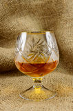 A glass of cognac Stock Photography