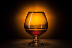 Glass with cognac Royalty Free Stock Photo