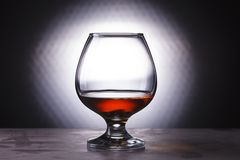 Glass with cognac Royalty Free Stock Photos