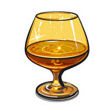 Glass of cognac Stock Image
