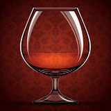 Glass of cognac. Stock Photography