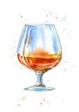 Glass of a cognac. Royalty Free Stock Photo