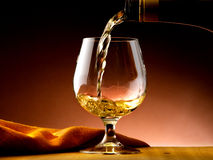 Glass of cognac Royalty Free Stock Photos