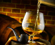 Glass of cognac Royalty Free Stock Photography