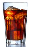 Glass with cola Stock Photo