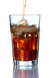 Glass with cola Royalty Free Stock Images