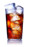 Glass with cola Royalty Free Stock Photos
