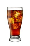 Glass of Cola. On white background. Easily detachable from background Stock Photo