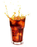 Glass with cola Royalty Free Stock Photography