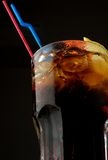 A glass of cola Stock Photography