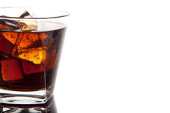 Glass of cola Royalty Free Stock Images