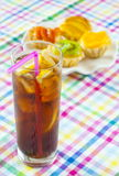 Glass of cola Stock Image