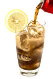 A glass of cola Royalty Free Stock Photography