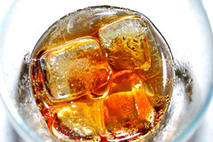 Glass of Cola. Cafe Cafe Stock Images